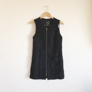 Sanctuary Long Black Zipper Vest